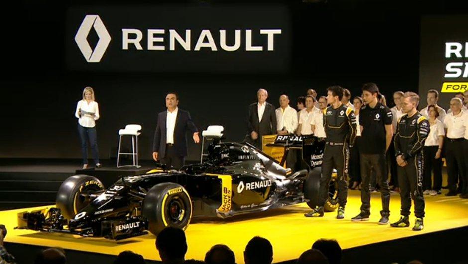 F1 2016 : Renault dévoile sa nouvelle voiture et ses pilotes