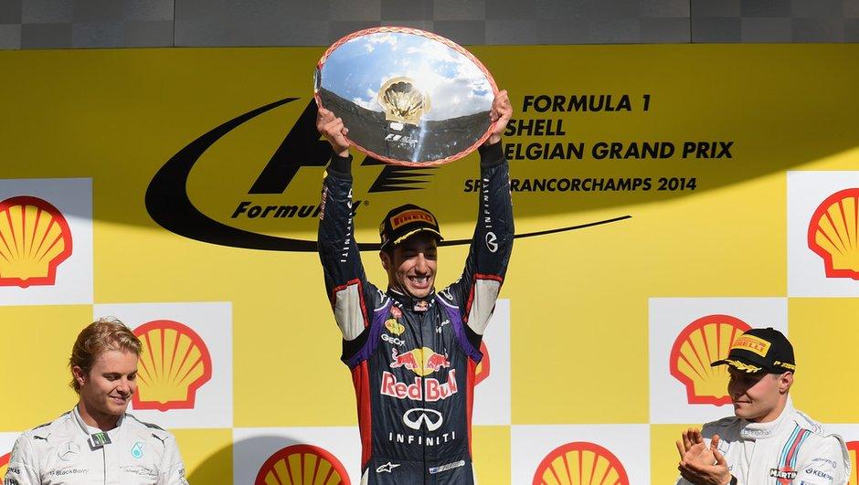 F1 - GP de Belgique 2014 : Ricciardo triomphe, Rosberg hué