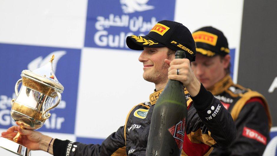 F1 : Grosjean heureux et ambitieux après son podium