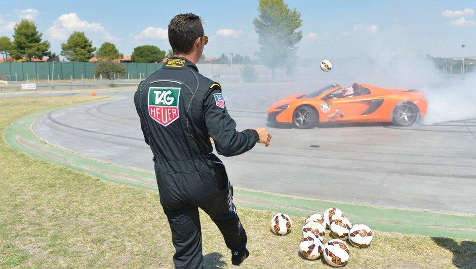 Cristiano Ronaldo et Jenson Button s'amusent en McLaren (+vidéo)