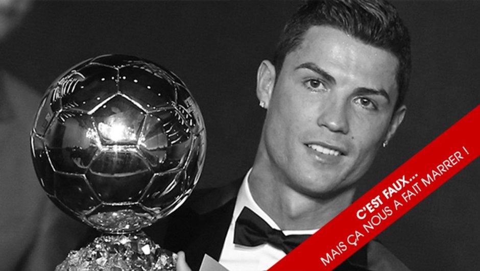 L'Info en toc : le Ballon d'Or ® décerné à Ronaldo sans voter