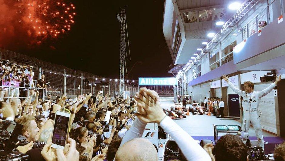 F1 - GP de Singapour 2016 : Rosberg patron, Ricciardo amusé et Hamilton dépassé