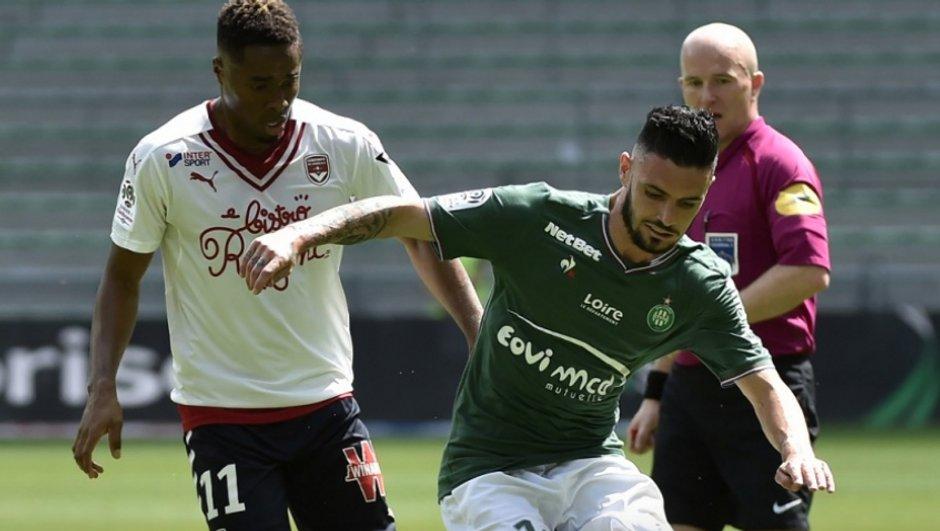 Ligue 1 : Fin de série pour Saint-Etienne, battu par Bordeaux