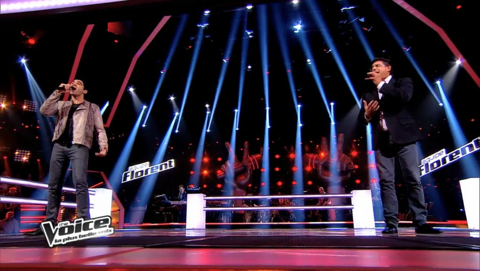 The Voice 3 : Adrien Abelli remporte sa battle face à Santo Barracato