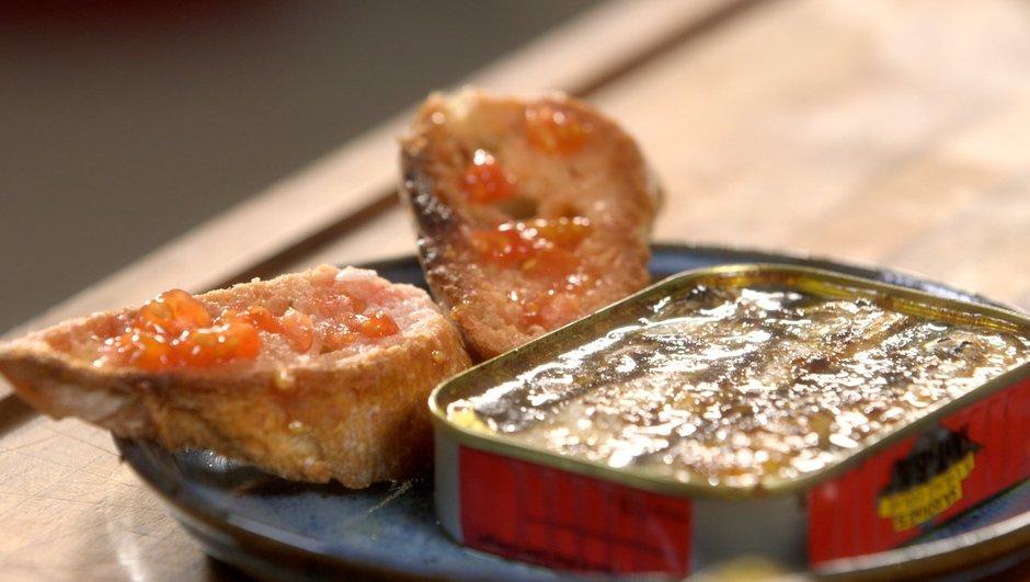 Sardines rôties au gingembre et à la sauce soja, en boîte