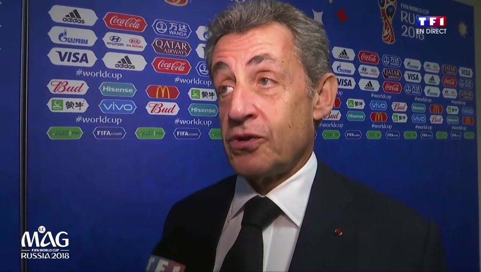 """France-Australie : pour Nicolas Sarkozy, """"la victoire, c'est ce qui est le plus important"""""""