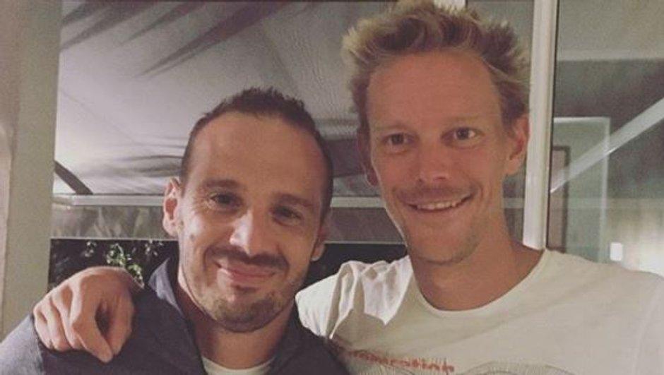 Retrouvailles sympa entre Frédéric et Sébastien