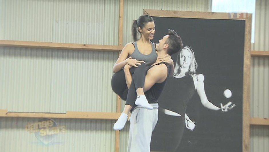 Danse avec les stars, Shy'm s'initie à l'acrobatie sur trampoline (VIDEO)
