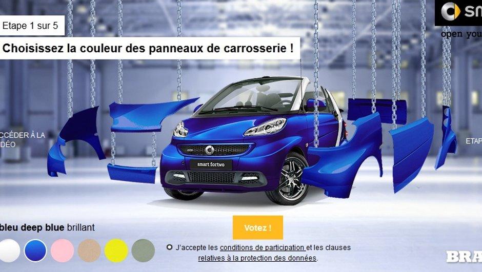 smart fortwo Brabus fan edition 2014 : votez pour votre configuration !