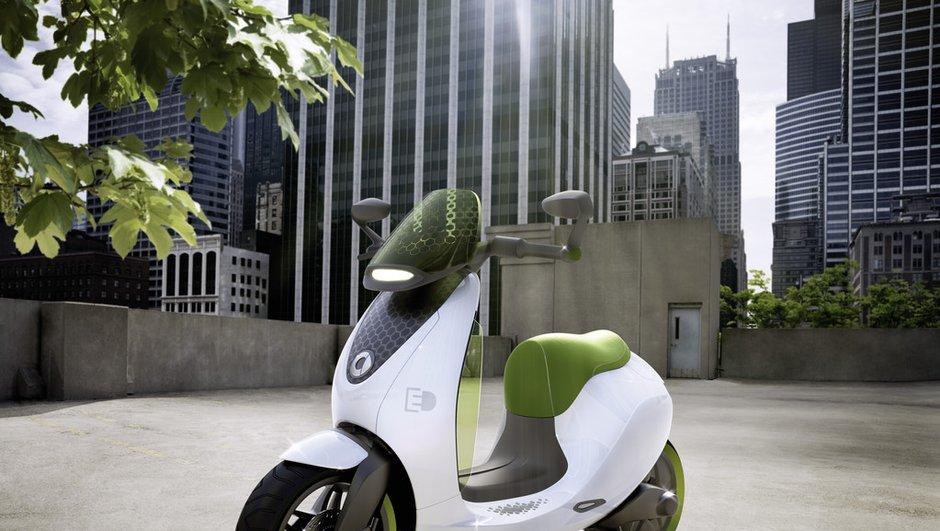 Mondial de l'Auto 2010 : Smart escooter, un scooter branché