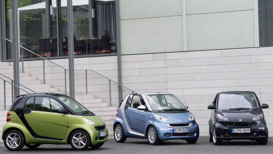 Nouvelle smart fortwo : restylage timide et moteurs plus verts