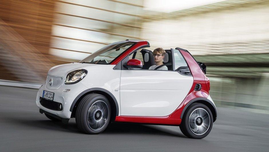 Smart fortwo cabrio 2016 : la mini-boîte plaisir pour le Salon de Francfort