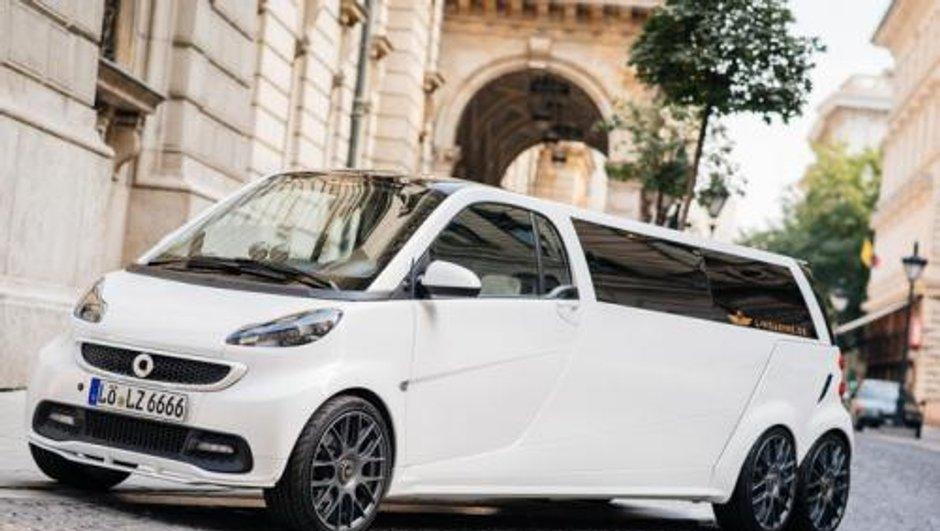 Insolite : une Smart ForTwo transformée en limousine
