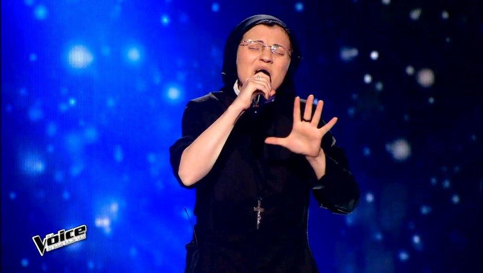 """The Voice 4 : Après Nög, au tour de Soeur Cristina de séduire les coachs sur """"Somewhere only we know"""" de Keane"""