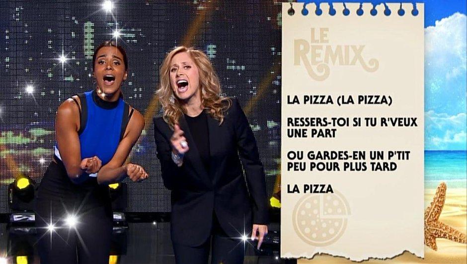 """Nikos, Shy'm et Lara Farabian chantent la recette de la pâte à pizza sur un air de """"L'Aziza""""..."""