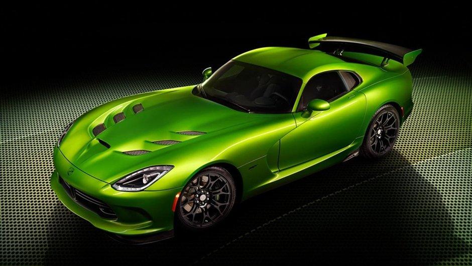 Salon de Detroit 2014 : SRT Viper Stryker Green, le coupé se décline en vert !