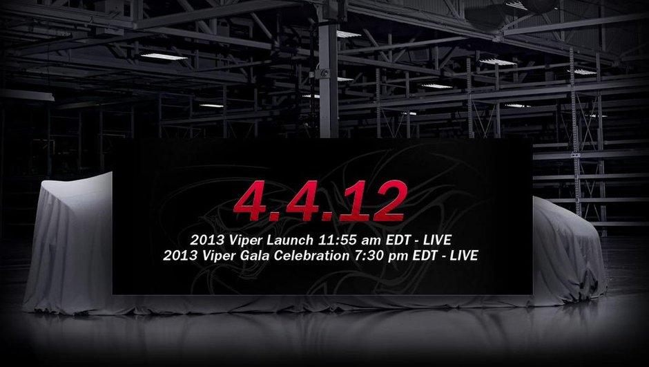 Salon de New York 2012 : nouvelle SRT Viper, révélation le 4 avril