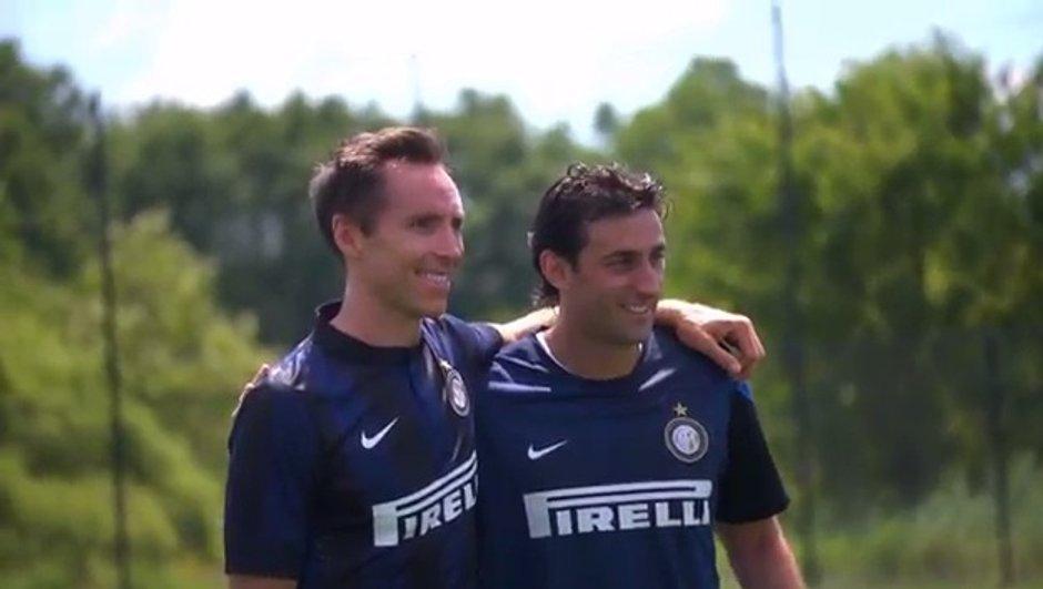 VIDEO Insolite : Steve Nash testé par l'Inter Milan !