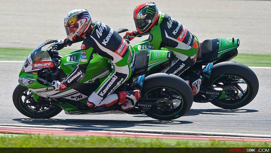 Superbike - Assen 2014 : Baz en pole devant Guintoli