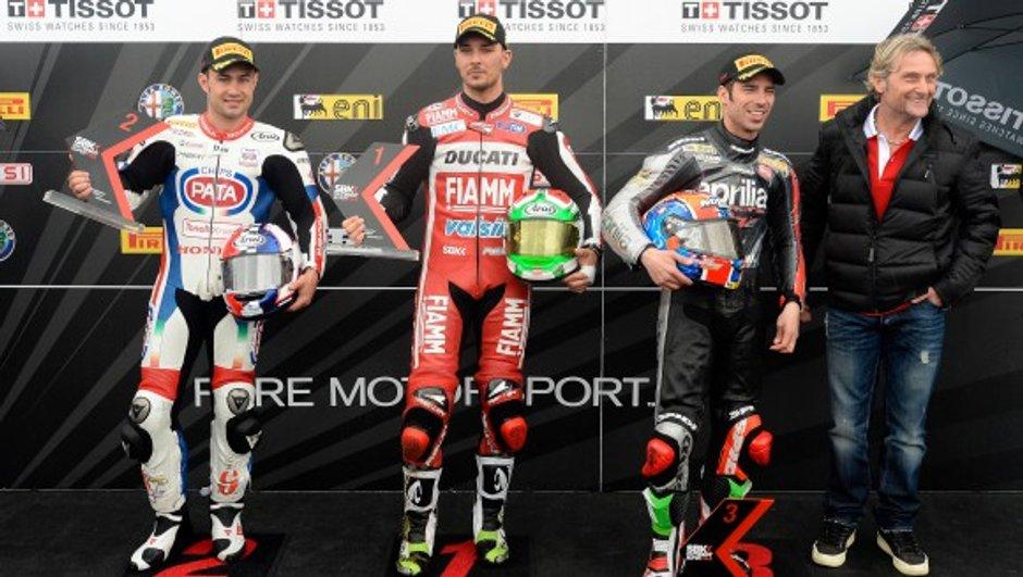 Superbike - Donington 2014 : Giugliano crédité de la pole, Guintoli 5e et Baz 6e