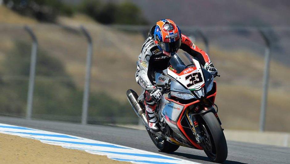Superbike - Laguna Seca 2014, course 1 : Melandri ouvre le bal