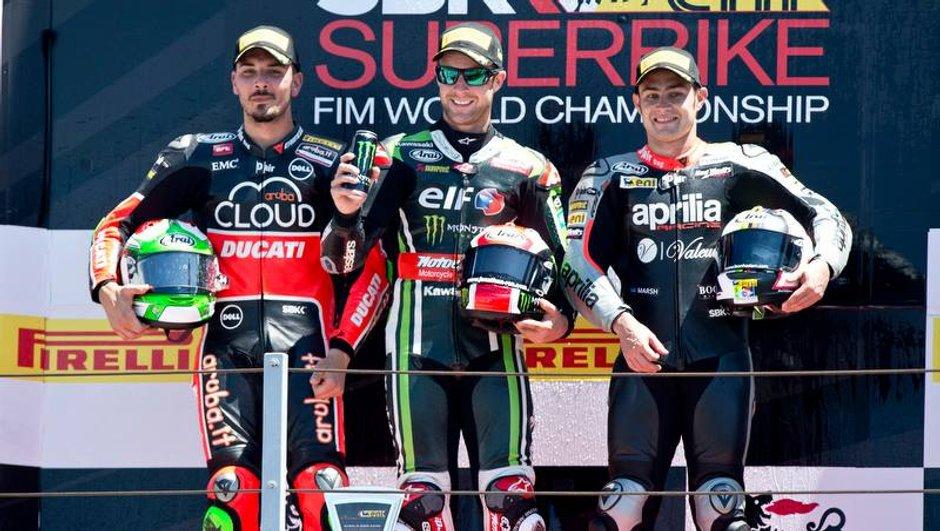 Superbike – Misano 2015 : Sykes et Rea hissent Kawasaki sur la plus haute marche du podium