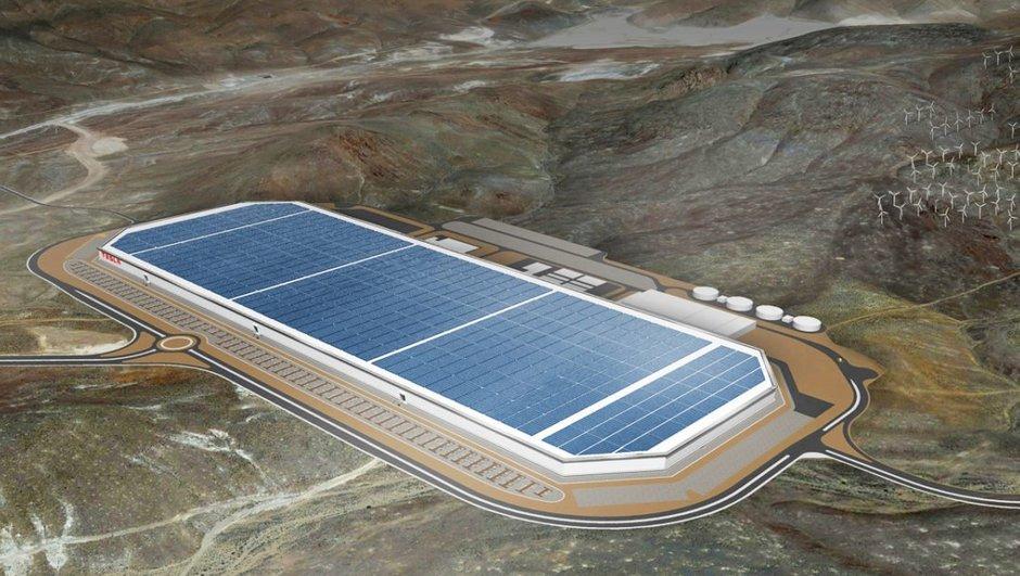 "Tesla inaugure sa première usine de batteries ""Gigafactory"" dans le Nevada"