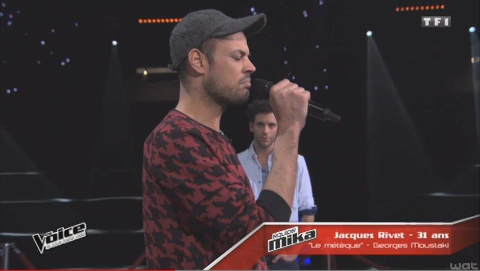 """The Voice 4 - Répétitions : Jacques Rivet visera les Lives avec """"Le métèque"""" de Moustaki"""