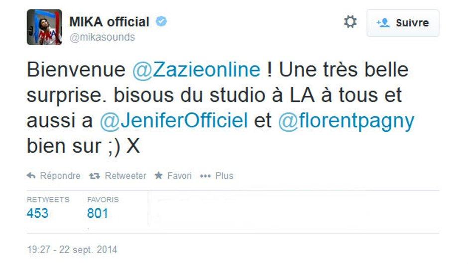The Voice 4 : Jenifer, Mika et Florent Pagny accueillent Zazie sur les réseaux sociaux