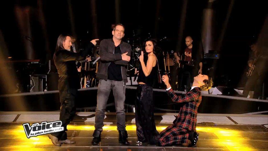 """The Voice 3 : Mika, Jenifer, Garou et Florent Pagny lancent l'Epreuve Ultime sur """"Vieille Canaille"""" de Gainsbourg et Mitchell (VIDEO)"""