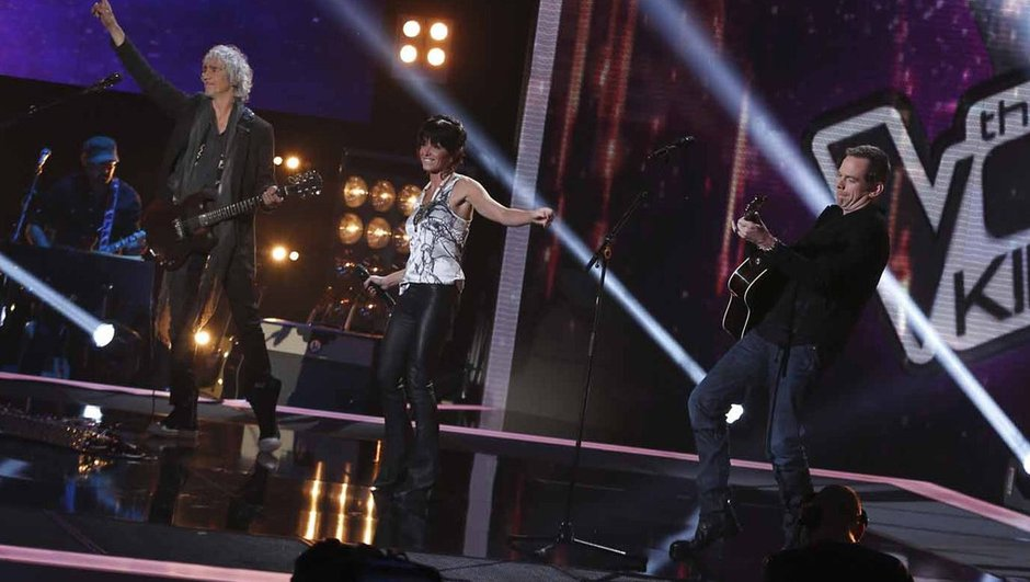 "The Voice Kids - VIDEO : Jenifer, Garou et Louis Bertignac chantent ""New York avec toi"""