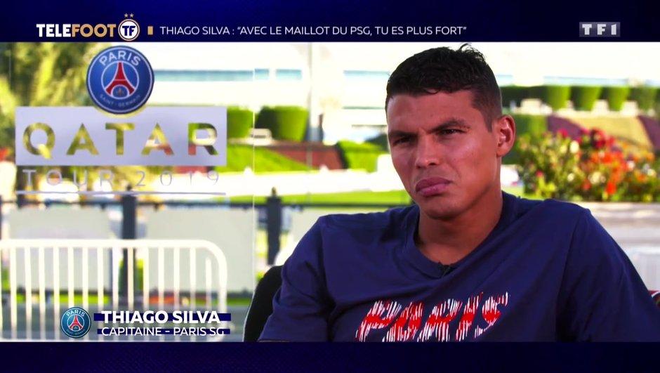 "[TELEFOOT 20/01/2019] Thiago Silva : ""Avec le maillot du PSG, tu es plus fort"""