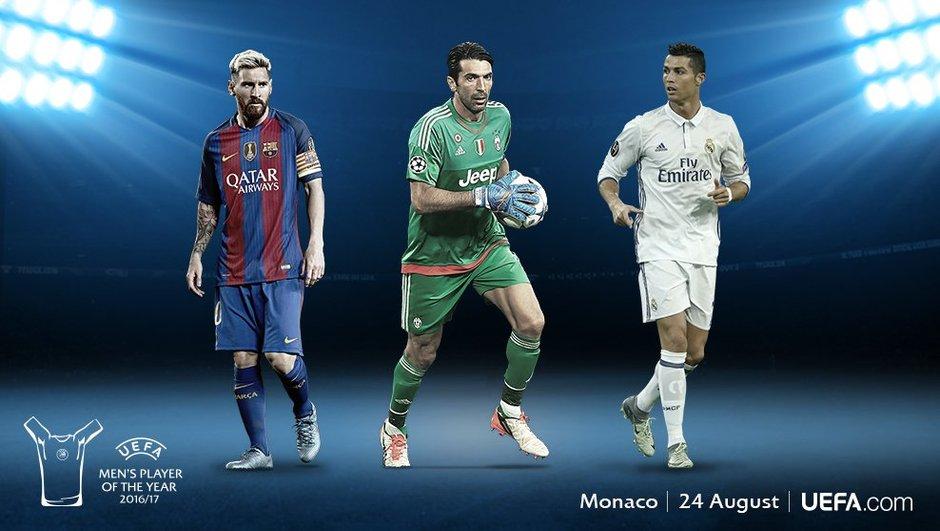 Buffon, Messi et Ronaldo nommés pour le titre de joueur de l'année!