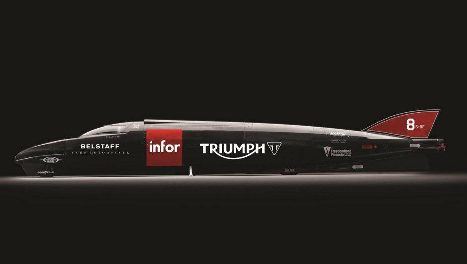 Plus de 605 km/h pour la Triumph Infor Rocket Streamliner