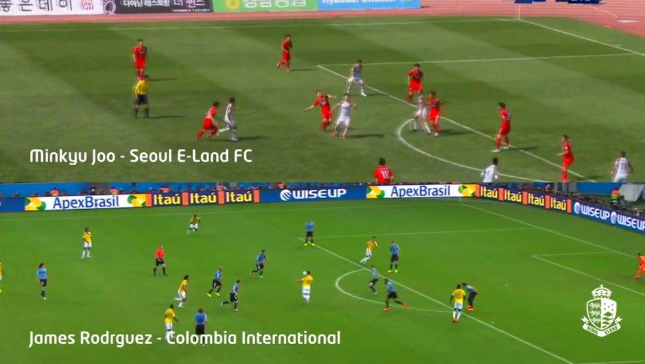 Vidéo : Un Coréen marque un but identique à celui de James Rodriguez à la Coupe du Monde