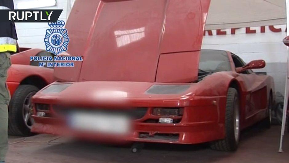 Espagne : des policiers voient rouge face à de fausses Ferrari