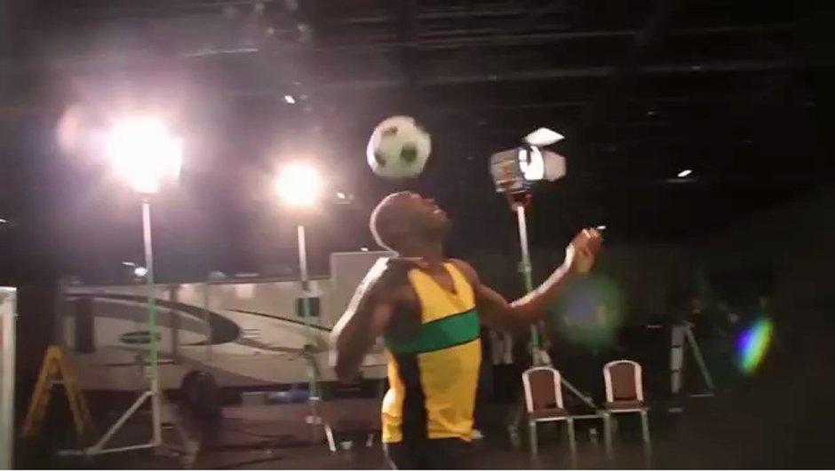 VIDEO Insolite : Usain Bolt assez technique pour le Brésil !