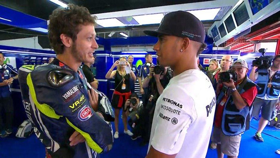 """Insolite - F1: Lewis Hamilton """"adorerait tester une MotoGP"""""""