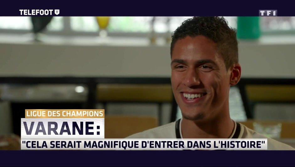 """[Exclu Téléfoot 28/05] Varane: """"Mbappé au Real Madrid ? Il serait très bien accueilli"""""""