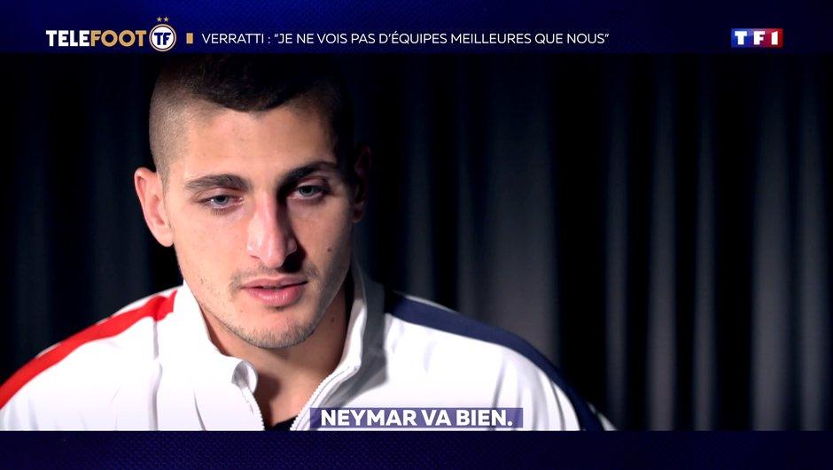 """[EXCLU Téléfoot 10/11] - Verratti : """"Neymar sait qu'il doit se faire pardonner quelque chose"""""""