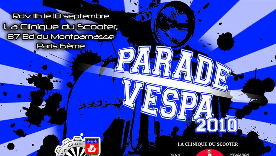 Parade Vespa 2010 : rendez-vous au rassemblement le 18 septembre !