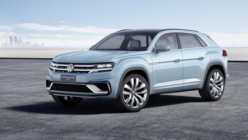 Volkswagen Cross Coupé GTE 2015 : le concept en mode hybride rechargeable à Detroit
