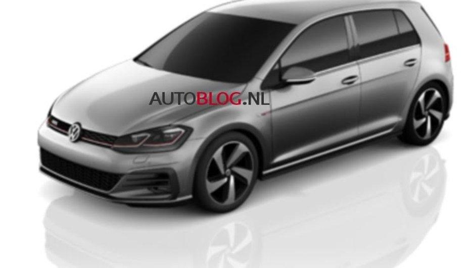 Mondial de l'Auto 2016 : la Volkswagen Golf restylée fuite en images