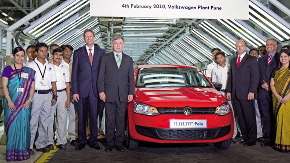 La Volkswagen Polo numéro 11.111.111 produite en Inde
