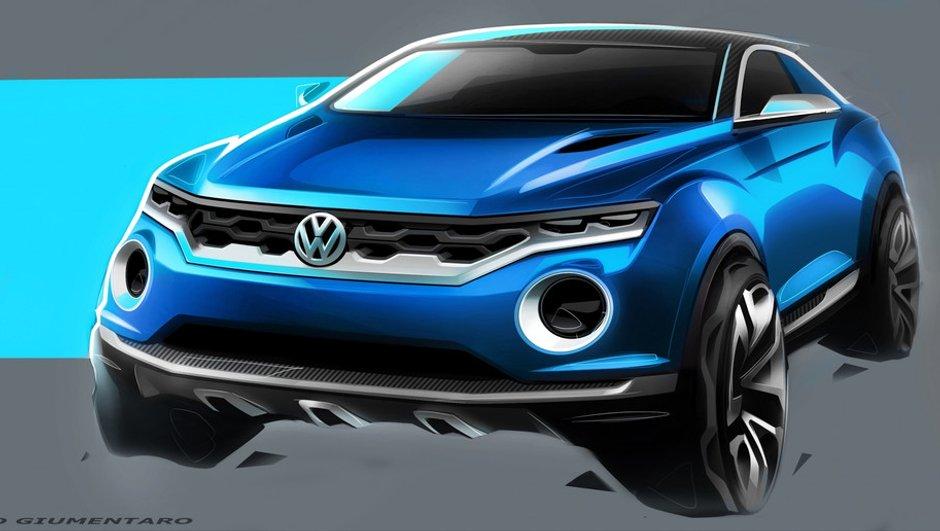 Salon de Genève 2014 : le concept-car Volkswagen T-ROC se montre en esquisses
