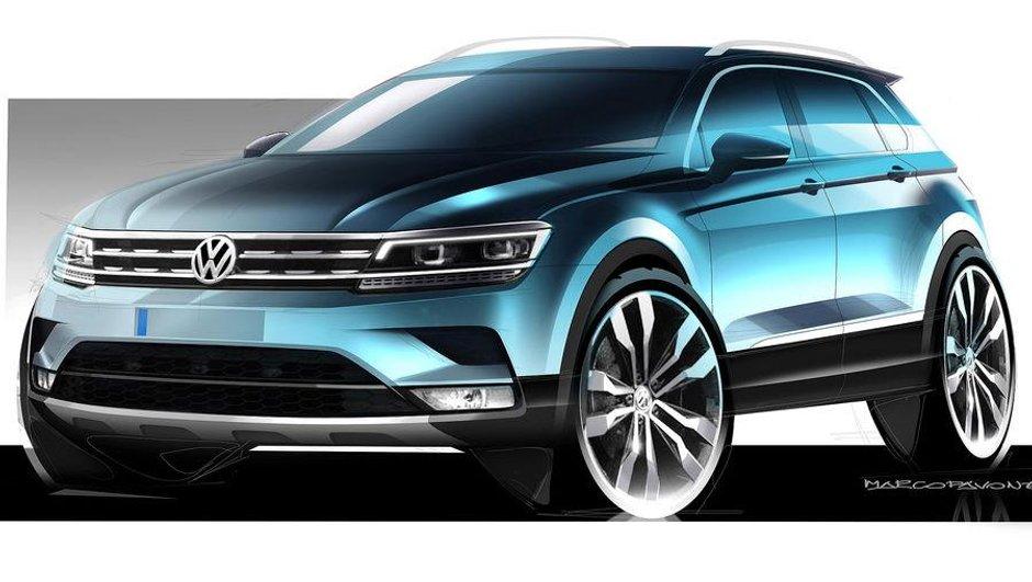 Salon de Francfort 2015: le nouveau Volkswagen Tiguan en premiers croquis
