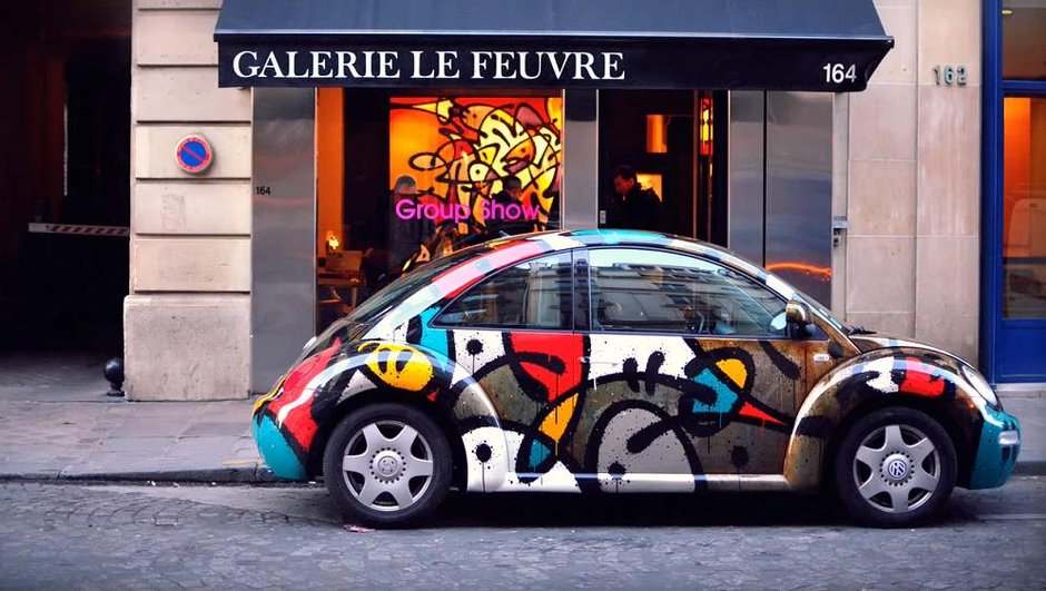 Insolite : une Volkswagen New Beetle version graffitis !
