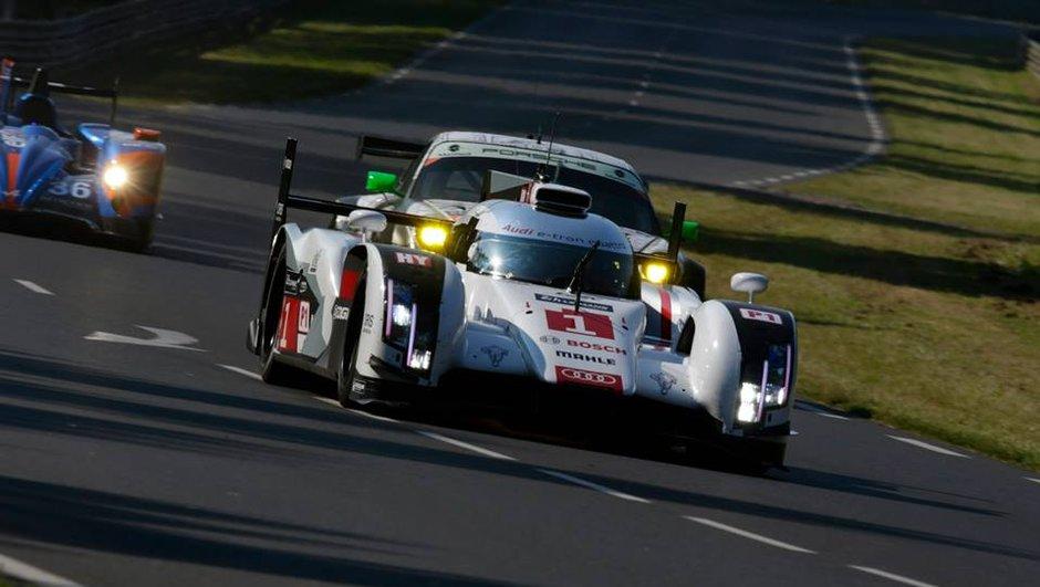 24h du Mans 2014 : l'Audi n°1 profite d'un souci sur la R18 leader