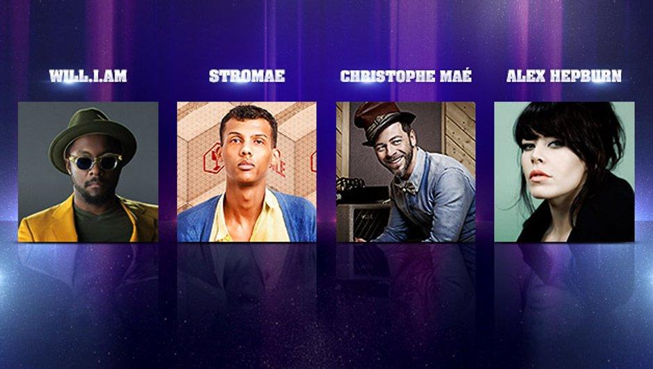 Will.I.Am, Stromae, Christophe Maé et Alex Hepburn aux NRJ Music Awards - 15th Edition