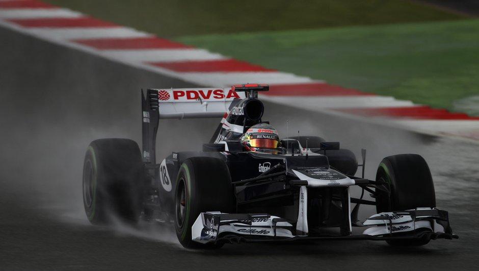 F1 - Essais GP d'Allemagne : Maldonado entre les gouttes